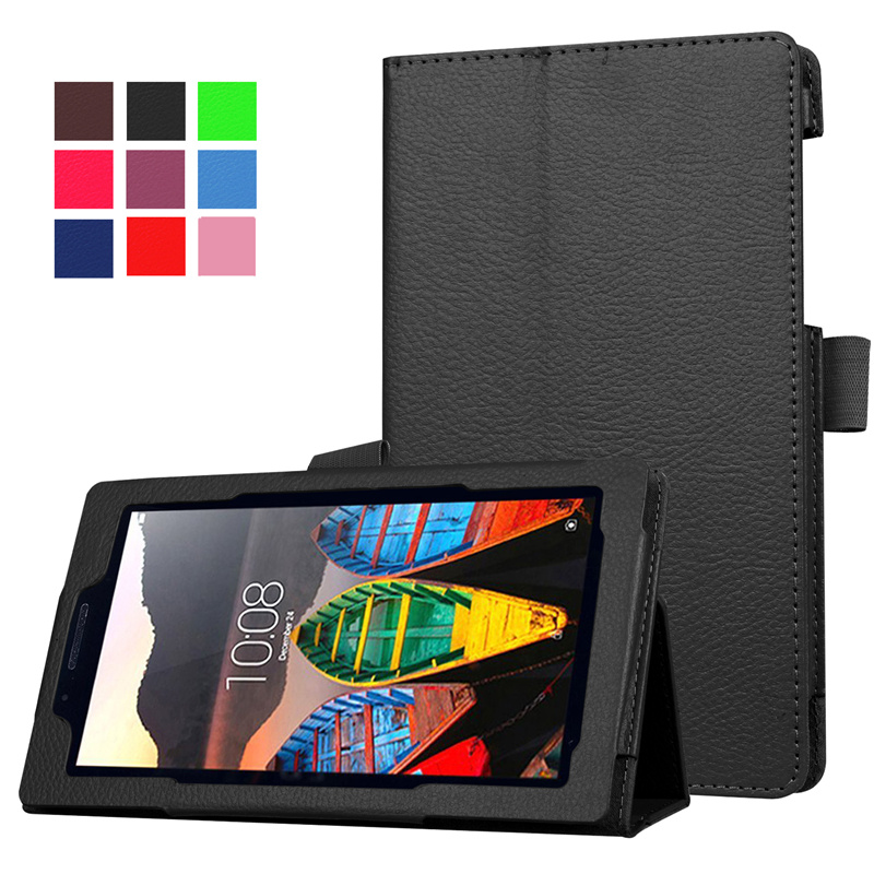 Slim Folding Stand Cover PU Leather Case for Lenovo Tab 3 7 Essential Tab3 710F 710I 7.0 inch Tablet Cases+Screen Protector+Pen slim fit stand feature folio flip pu hybrid print case for lenovo tab 3 730f 730m 730x 7 inch
