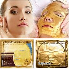 10pcs טיפוח עור גיליון מסכות זהב מסכה נגד קמטים הלבנת פנים מסכה נגד הזדקנות לחות קולגן פנים מסכת קידום מכירות