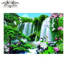 diamond painting landscape waterfall 5d diy diamond mosaic Cross Stitch diamond Embroidery Home Decoration christmas gift утюг tefal fv 5605