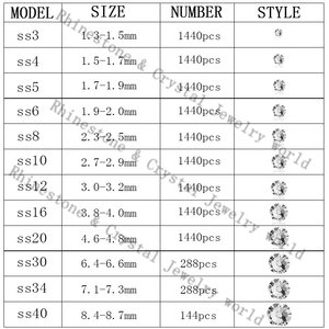 Image 5 - 喬マルチカラー SS6 SS20 クリスタルガラスラインストーン売春ホットフィックスラインストーンホット固定服ドレスの装飾