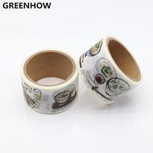 GREENHOW Food Washi Paper Tape 3cm*5m Decorative Crafting Scraping Paper Adhesive Masking Tape 9005