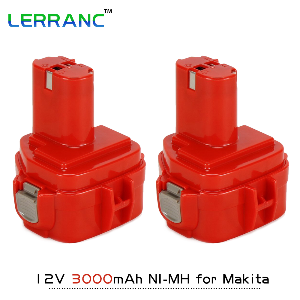 2PCS 12V 3000mAh 3.0A Ni-MH Replacement Cordless Tools Battery for Makita 1233/1234/1235192681-5/192698-2/193157-5/192698-8 12v 3 0ah 3000mah ni mh battery for ryobi b 1230h b 1222h b 1220f2 b 1203f2 1400652 1400652b 1400670 cordless