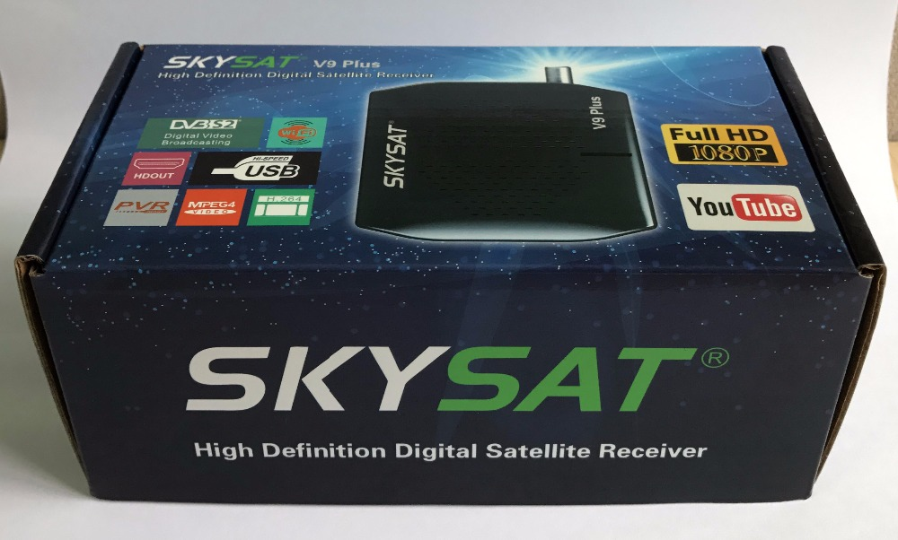 SKYSAT V9 plus DVB S2 Receiver support CCCamd Newcamd