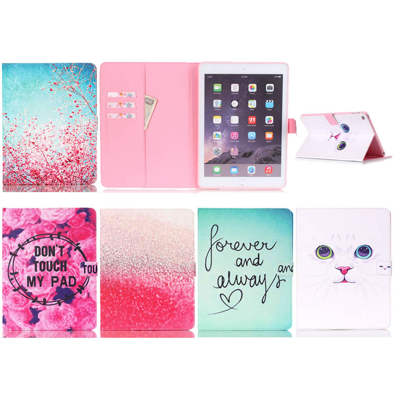 For Apple iPad Air 2 Case, Print PU Leather Protective Skin For iPad Air 2 For iPad 6 Cover With Card Holder Tablet Accessories колпаков с в атлас к к задания новая история 16 18 вв ч 1 7 класс