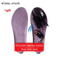 2017 New Electronic Heating Insoles Winter Wireless Remote Control Insoles Woman Shoes Insole Pad Camping Insoles