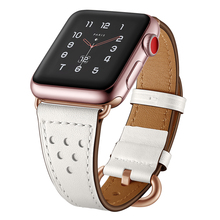 Leather watch band For apple 40mm & for 4 strap 44mm bracelet iwatch 3 2 1 42/38mm accessories