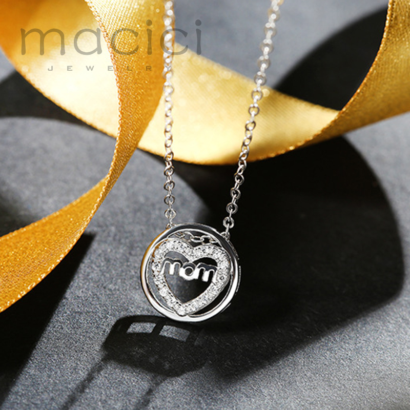 Moms Forever Pendant Necklace New Hot 925 Sterling Silver