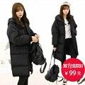 Inverno thicke jaqueta de algodão mulheres de longo grandes senhoras do tamanho de algodão Parkas fêmea gordura Casaco Com Capuz mulheres soltas de algodão-acolchoado jaqueta