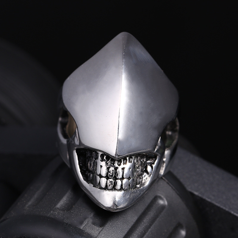 Hot Sale Skull Rings for Men Punk Hipster One Eye Fashion Jewelry Party Rings High Quality Titanium Steel Ring Men