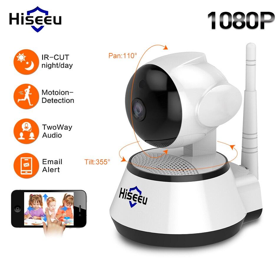 Hiseeu 1080 P IP Камера 2MP Wi-Fi Беспроводной видеонаблюдения Камера Wi-Fi home Security Камера IP Видеоняни и радионяни двусторонняя аудио P2P