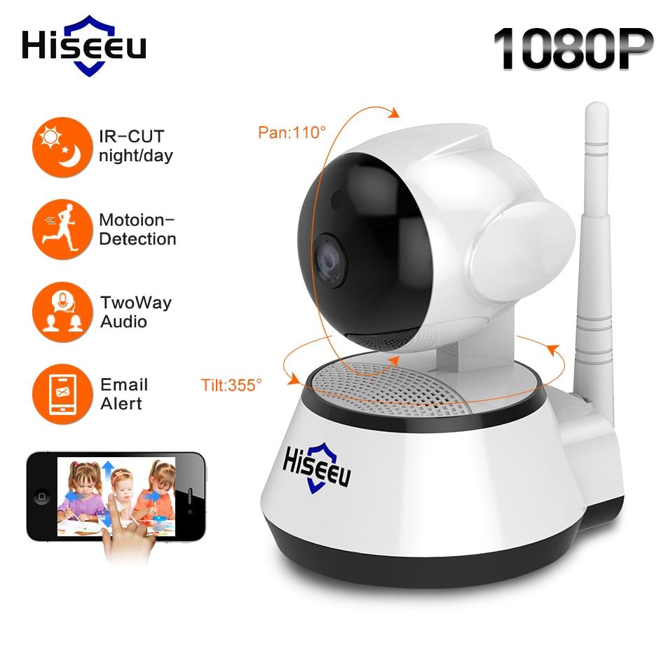 Hiseeu 720P/1080P IP Camera 2MP Wi-Fi Wireless Security cctv Camera WiFi home Security Camera IP Baby Monitor Two-way Audio P2P