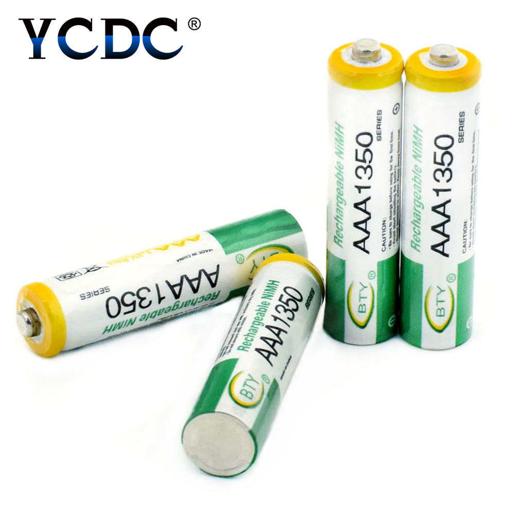 YCDC bty HR03/AM4/LR3 Ni-MH AAA 1350mAh 1.2 V Quanlity Rechargeable Battery AAA 1350mAh BTY NI-MH 1.2V Rechargeable 3A Battery new for 2016 2 pcs aaa 3a 1800mah 1 2v ni mh rechargeable battery