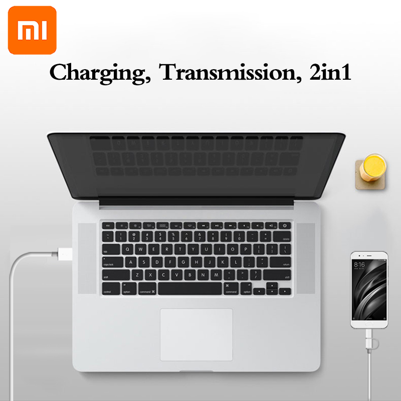 Image 5 - original Xiaomi 2 in 1 Micro USB to Type C sync data Charger Cable usually wire for Mi 5 5A 5C 5X 5S plus 6 6X 8 SE 9 redmi 4A X-in Mobile Phone Cables from Cellphones & Telecommunications