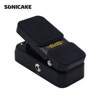 Sonicake 2 in 1 Active Volume Vintage Wah Sound Guitar Effects Pedal LED Light Shows QEP 01