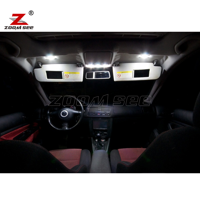 15pc X 100 No Error For Vw Volkswagen Jetta 4 Mk4 Mkiv Led Interior Dome Map Light Parking City Bulb Kit Package 1999 2005 In Signal Lamp From