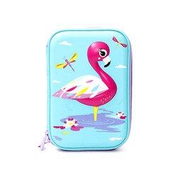 Flamingo Cartoon Stereo piórnik EVA o dużej pojemności śliczne biurowe pióro kreatywne płótnie torba biuro szkoły dostaw