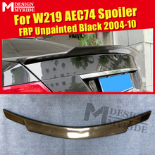 цена на W219 Trunk Spoiler Tail Wing FRP Unpainted Fits For MercedesMB CLS-Class CLS350 CLS400 500 AEC74 Style Rear Spoiler Lip 2004-10
