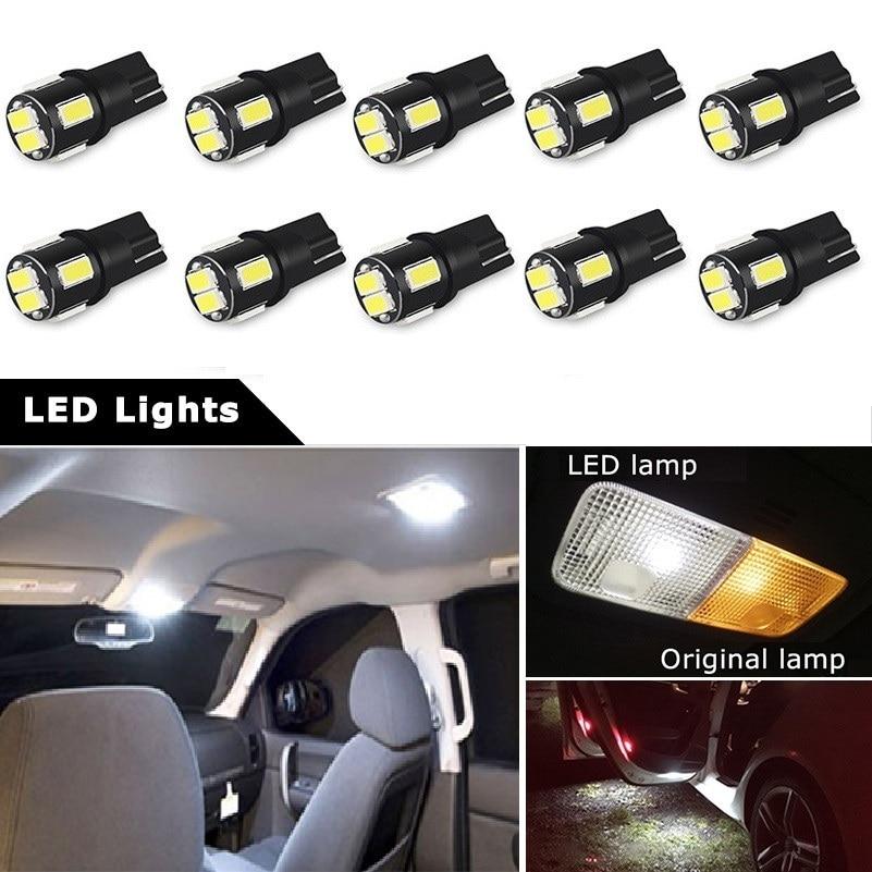 10x T10 194 168 5w Glühlampe Glühbirne Glassockel Lampe Autolampen