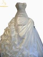 Bealegantom Gorgeous Ball Gown Ruffles Wedding Dresses 2017 Crystal Beaded Bridal Gowns Robe De Mariee Vestidos