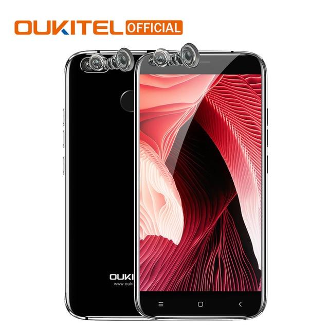 D'origine Oukitel U22 Android 7.0 Smartphone 2 GB RAM + 16 GB ROM 2700 mAh MTK6580A Quad Core 5.5 ''d'empreintes digitales 4 Caméras Smartphone
