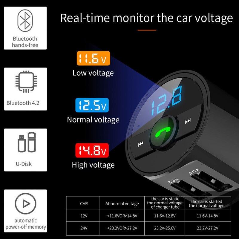 VEHEMO беспроводной радио адаптер fm-передатчик автомобильный комплект музыка для Аксессуары для салона автомобиля Автомобильный fm-передатчик портативный