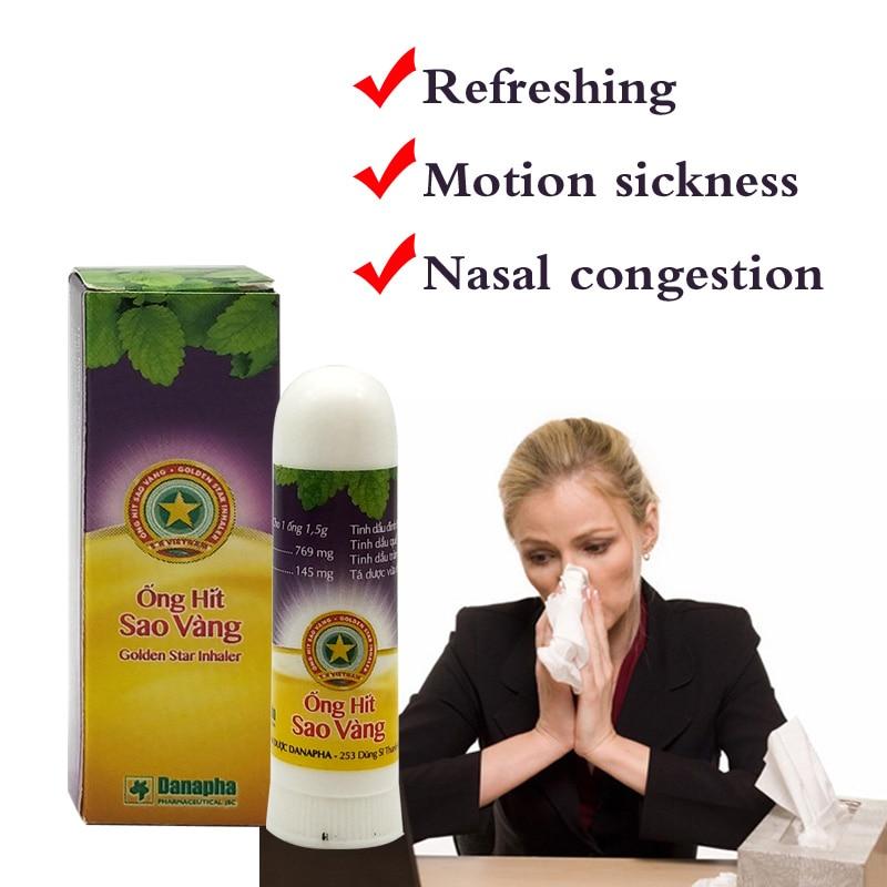 Image 3 - Golden Star Herbal Nasal Inhaler Stick Mint Cylinder treament Asthma Nasal congestion headache Refreshing Aroma Stick Inhaler-in Patches from Beauty & Health