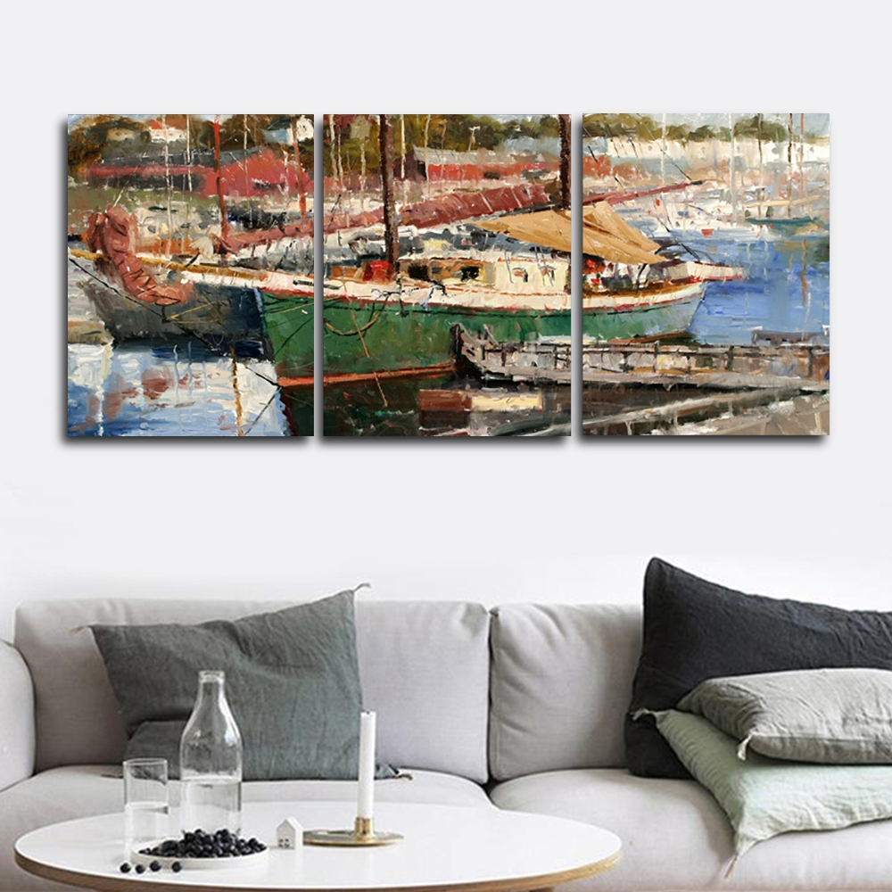 Watercolor Boat Wall Pictures Poster Print Canvas Painting Calligraphy Decor for Living Room Bedroom Home Decor Frameless in Painting Calligraphy from Home Garden