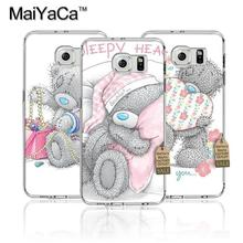 MaiYaCa Tatty Teddy Me To You Bear Transparent TPU Soft Phone Case Accessories For Samsung s4 s5 s6 s6 edge s6 edge plus case