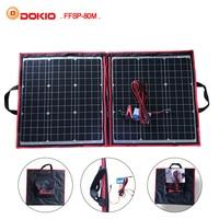 Dokio 50W 60W 70W 80W (40x2Pcs) 18V Flexible Black Solar Panels China Foldable + 12/24V Volt Controller Watt Panels Solar