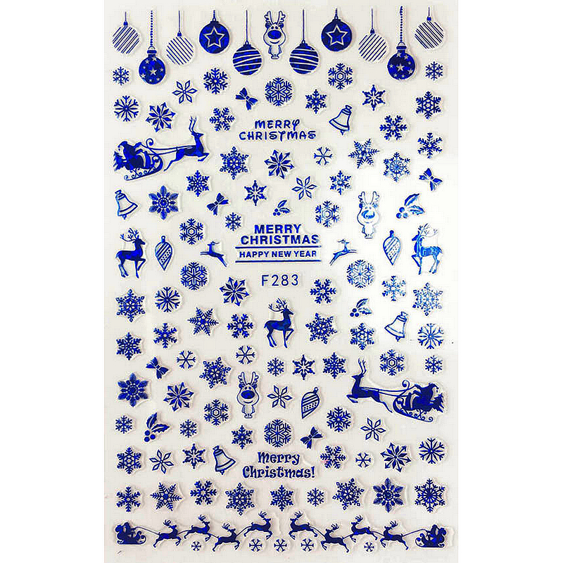 ватрушки slider тюбинг slider комфорт d 90 см камера 16 польша замок на молнии SUPER THIN SELF ADHENSIVE 3D NAIL ART NAIL SLIDER STICKER  BLACK WHITE GOLD SILVER BLUE CHRISTMAS BELLS DEERS F283-284