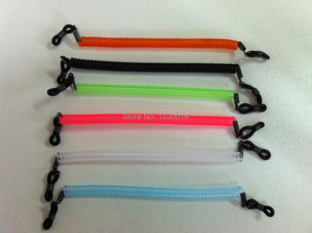 f19229aba3 12 unids/lote elástico niños Junior niños gafas marco nylon espiral cuerdas  retenedor para deporte