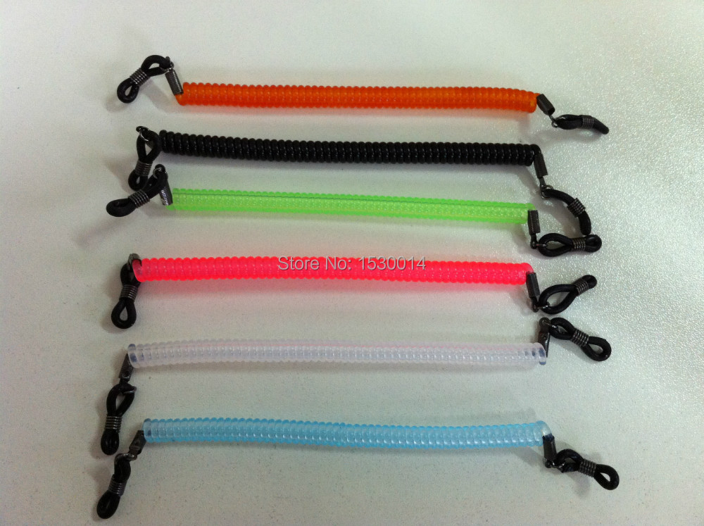 12st / lot elastiska barn Junior barn glasögon ram nylon spiralband hållare för sport glasögon string frame band