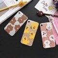 Корейский высокого качества мультфильм кролик медведь ТПУ Телефон Дела Для iphone5 5S se 6 6 s 6 s плюс 7 7 плюс горячая