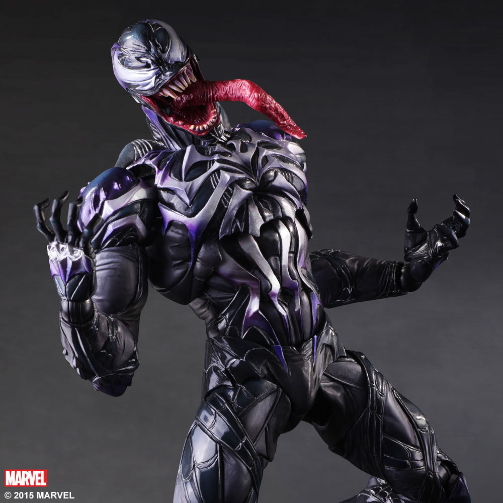 PLAY ARTS 25cm Venom in Movie Spiderman Action Figure Model Toys model fans spider man action figure venom spride collection model toys play arts kai amazing spiderman play arts venom