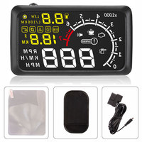100pcs Free DHL Shipping Universal Car HUD Head UP 5.5 LCD Display OBDII Car Styling Car Kit fuel Overspeed KM/H Pro