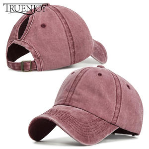 TRUENJOY Fashion Snapback Baseball-Cap Wash-Hats Ponytail Sport-Caps Bone-Gorras Summer