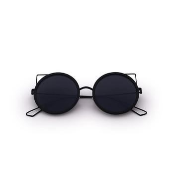 cdcb9b871a FONHCOO Metal gato gafas de sol retro Vintage mujer verano estilo gafas de sol  redondas ojos