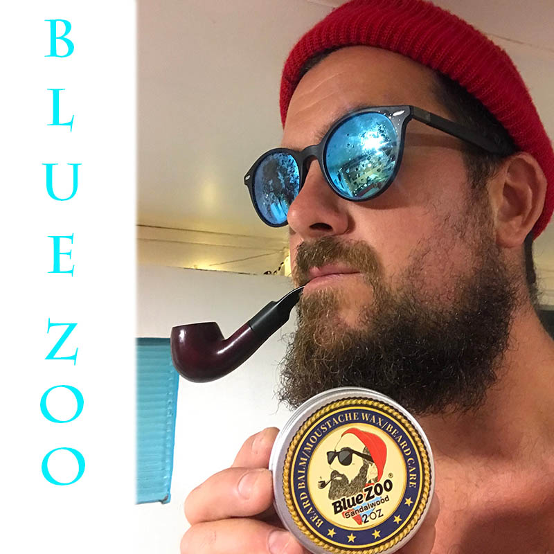 Image 5 - Blue ZOO Men Organic Beard Oil Balm Moustache Wax Styling Beeswax Moisturizing Smoothing Gentlemen Beard Care Natural Beard Balm-in Hair Loss Products from Beauty & Health