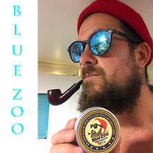 Blue ZOO Men Organic Beard Oil Balm Moustache Wax Styling Beeswax Moisturizing Smoothing Gentlemen Beard Care Natural Beard Balm