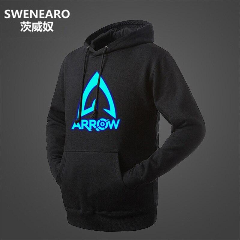 SWENEARO Neon Green Arrow Hoodie Brand Sweatshirt Men Hip Hop Fashion Fleece High Quality Hoody Pullover Sportswear Clothing Top