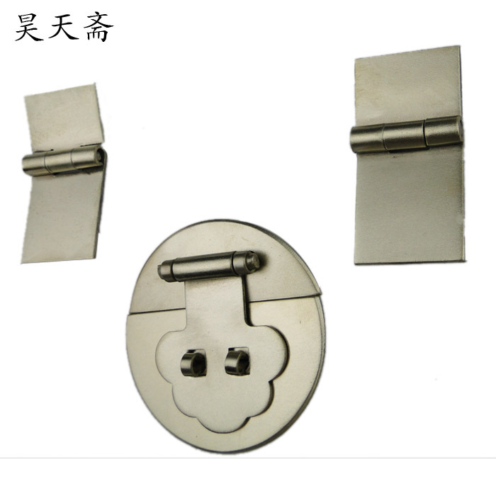 [Haotian vegetarian] bronze Chinese antique jewelry box accessories hasp box buckle copper-suite HTN-078 [haotian vegetarian] antique copper box face page box buckle chinese decoration accessories htn 023
