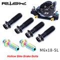 RISK TC4 полый дизайн для велосипедного дискового тормозного сиденья крепежный винт высокого качества Суперлегкий титановый сплав XT зажим фик...