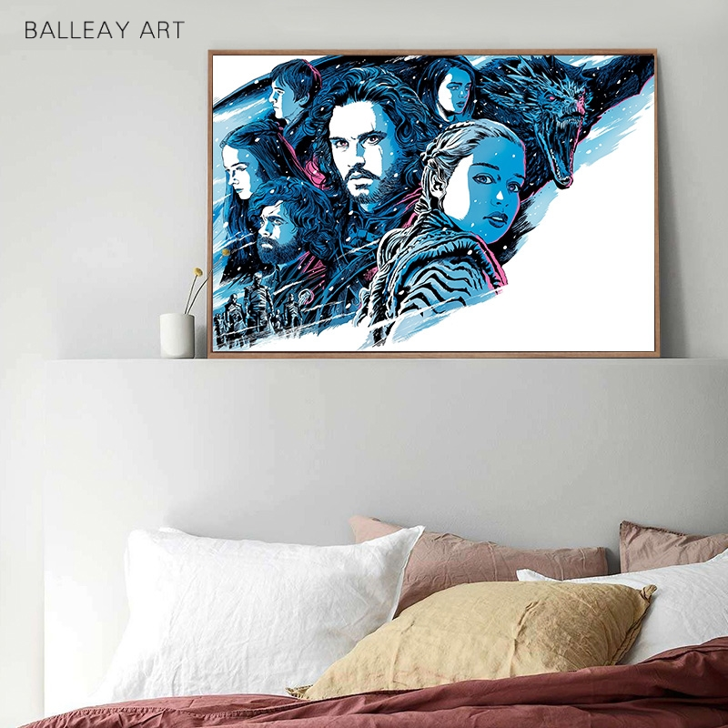 Game Of Thrones TV Play Painting By Numbers On Canvas Emilia Clarke Hand Painted Picture Daenerys Targaryen Wall Art Pictures