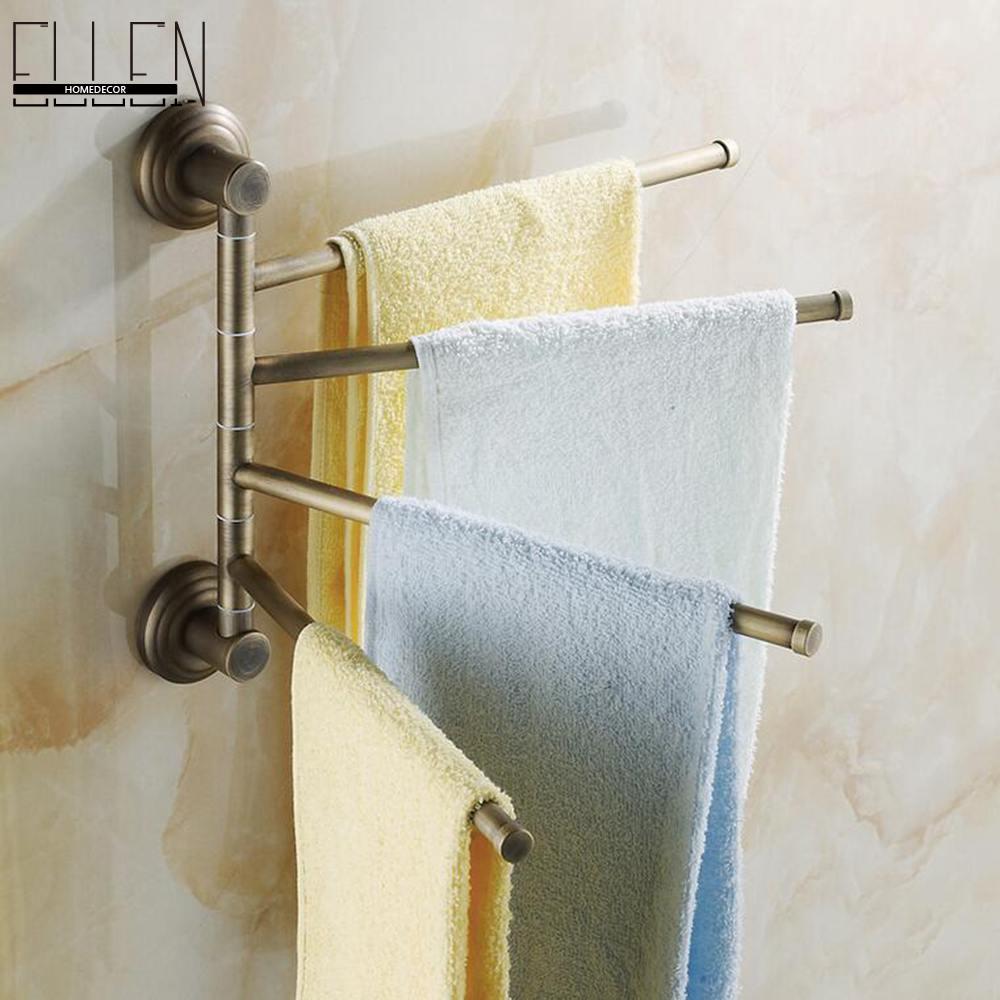 ФОТО Bathroom Accessories Towel Holder Antique Bronze Movable Bath Towel Rack Bathroom Hardware-8024DH-4