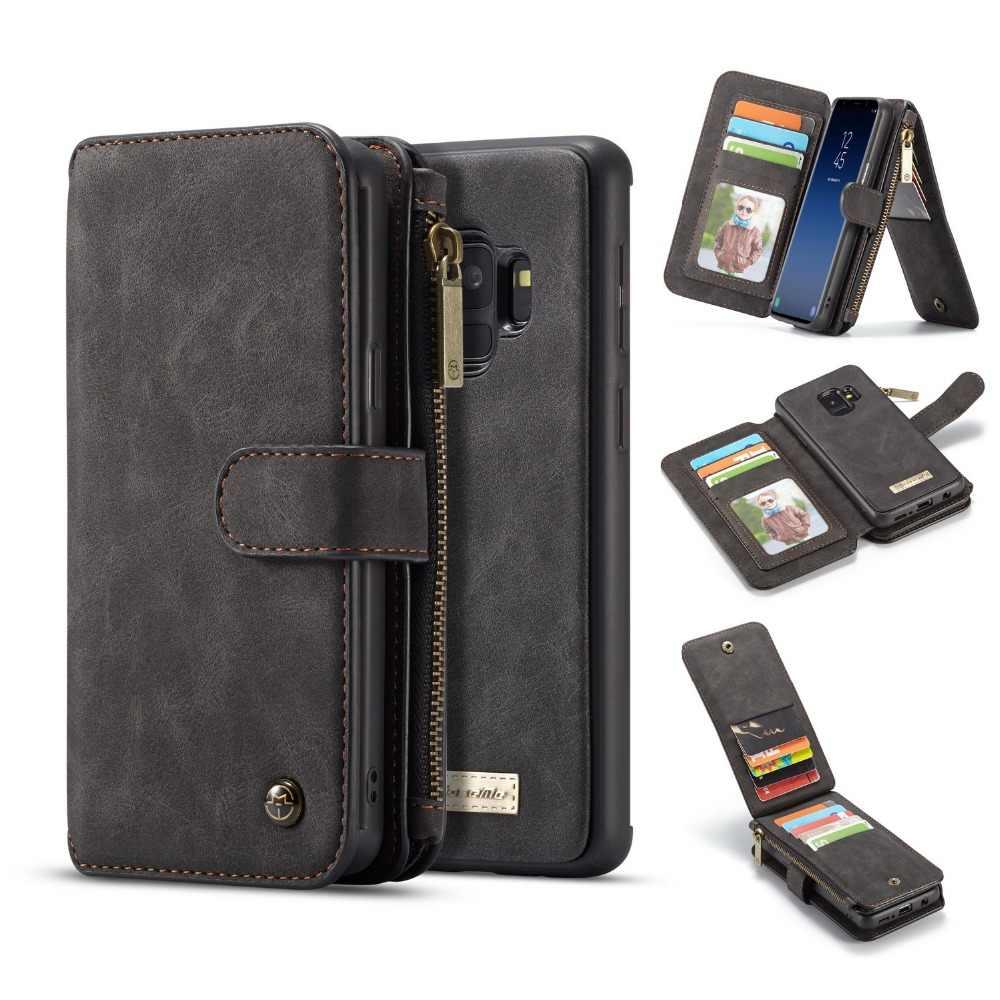 Чехол-кошелек для Galaxy S9 Plus, съемный чехол-книжка из натуральной кожи на магните, чехол для samsung Galaxy S9 Note 10 Plus S8 Note 9