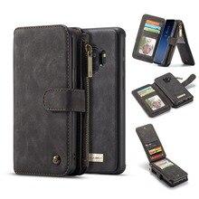 갤럭시 S9 Plus Wallet 케이스 용 삼성 Galaxy Note 20 S20 S10 Note 10 Plus S8 용 탈착식 폴리오 마그네틱 가죽 커버 케이스