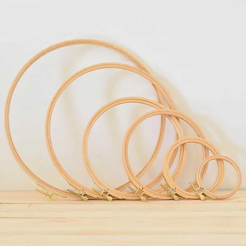 Mini argola de bambu para bordado, argola de bambu para kit de ferramentas de costura, bordado em madeira, ponto cruz, 10-40cm fios fio inchado