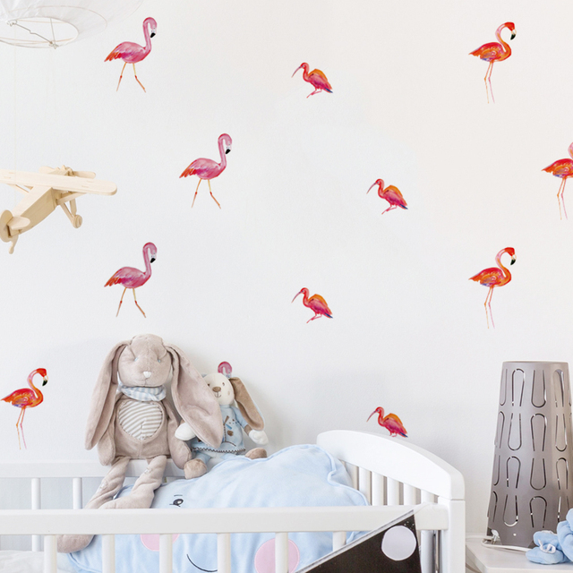 Flamingo Decals Wall Sticker DIY Wall Mural Sticker For Children Room  Decoration Peel U0026 Stick 6 Sheets/pack 24pcs Part 79