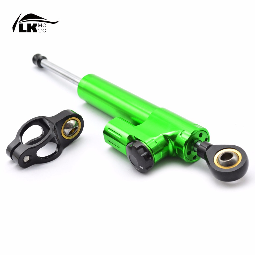 ФОТО Motorcycle Accessories CNC High quality aluminum Steering Stabilizer Damper for Triumph 675 STREET TRIPLE R  Bonneville  T100