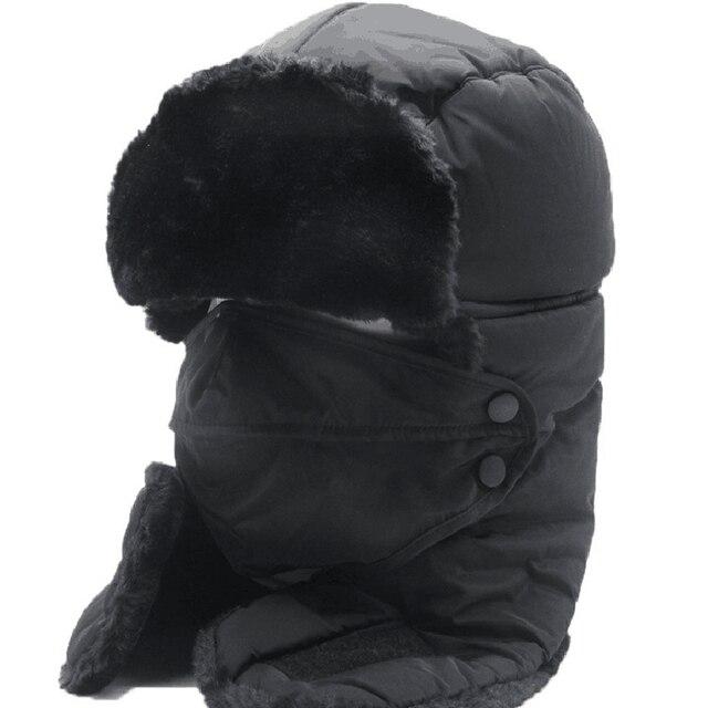 aaa720ce587 2017 Ushanka russian faux fur cap men winter hats ear flaps aviator snow  bomber hat for women warm troope caps gorro balaclava